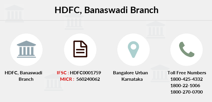 Hdfc-bank Banaswadi branch