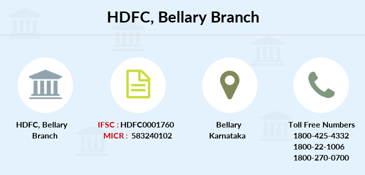 Hdfc-bank Bellary branch