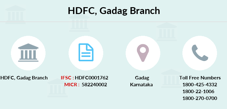 Hdfc-bank Gadag branch