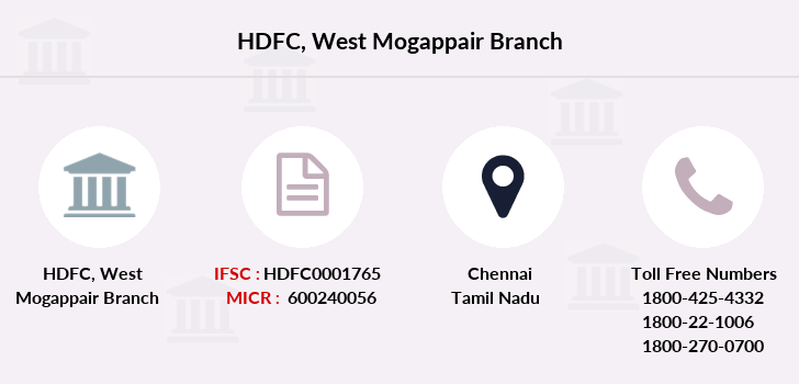 Hdfc-bank West-mogappair branch