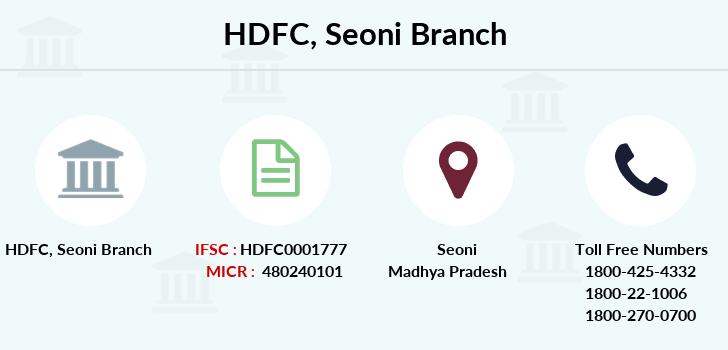 Hdfc-bank Seoni branch