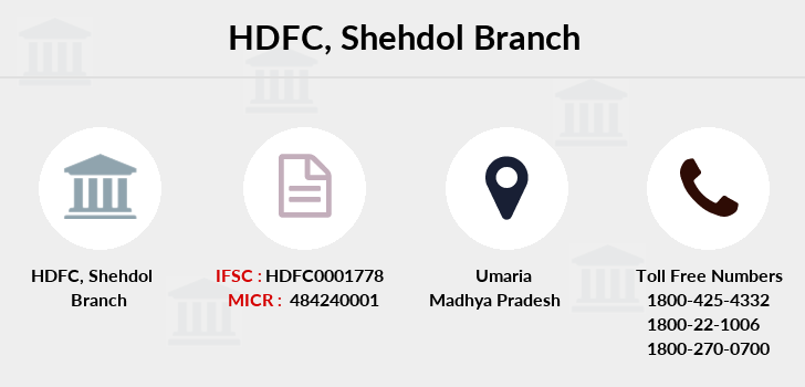 Hdfc-bank Shehdol branch
