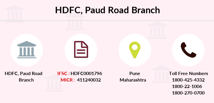 Hdfc-bank Paud-road branch