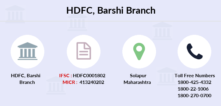 Hdfc-bank Barshi branch