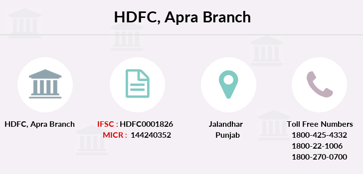 Hdfc-bank Apra branch