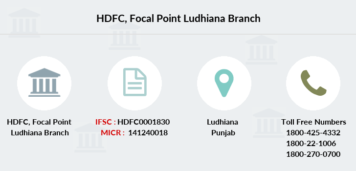 Hdfc-bank Focal-point-ludhiana branch