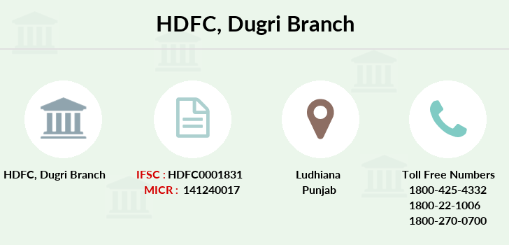 Hdfc-bank Dugri branch