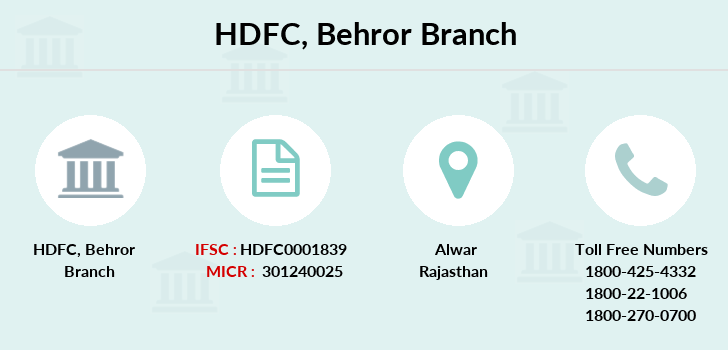 Hdfc-bank Behror branch