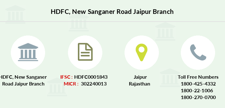 Hdfc-bank New-sanganer-road-jaipur branch