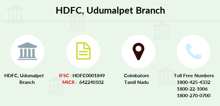 Hdfc-bank Udumalpet branch