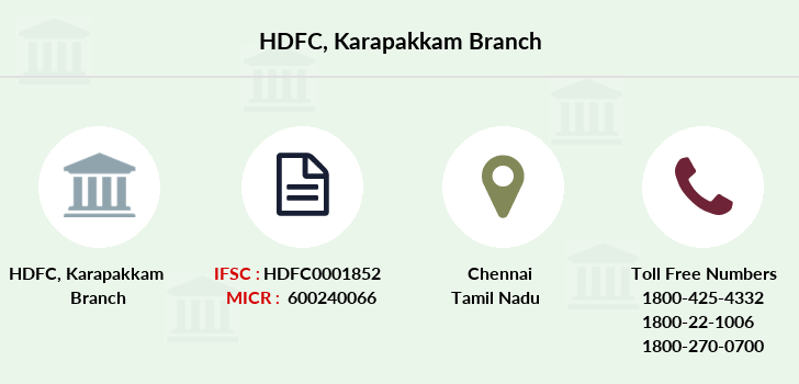 Hdfc-bank Karapakkam branch