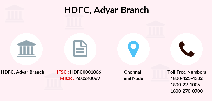 Hdfc-bank Adyar branch