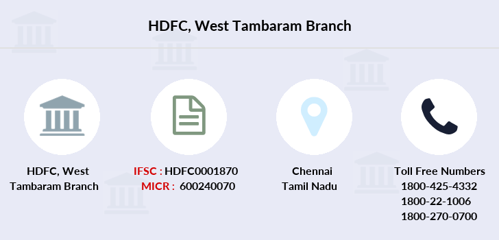 Hdfc-bank West-tambaram branch