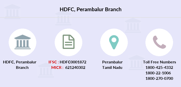 Hdfc-bank Perambalur branch