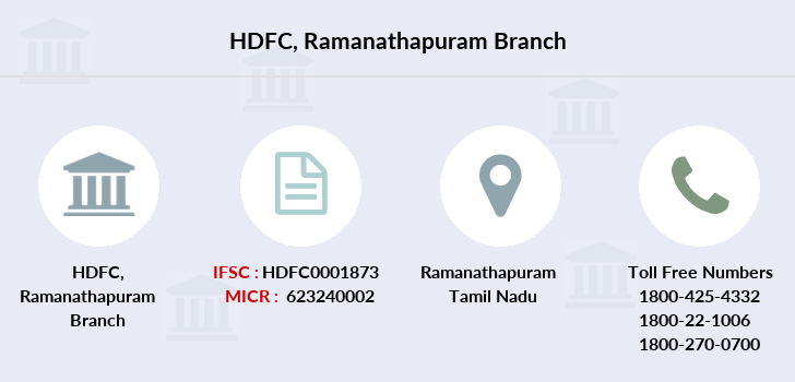 Hdfc-bank Ramanathapuram branch