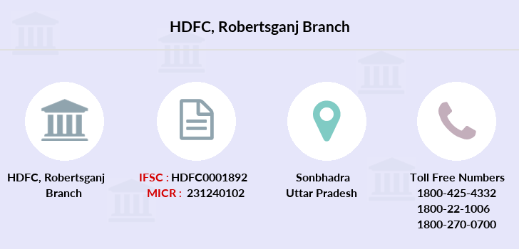 Hdfc-bank Robertsganj branch