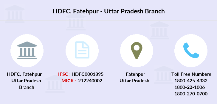 Hdfc-bank Fatehpur-uttar-pradesh branch