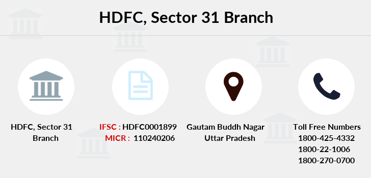 Hdfc-bank Sector-31 branch