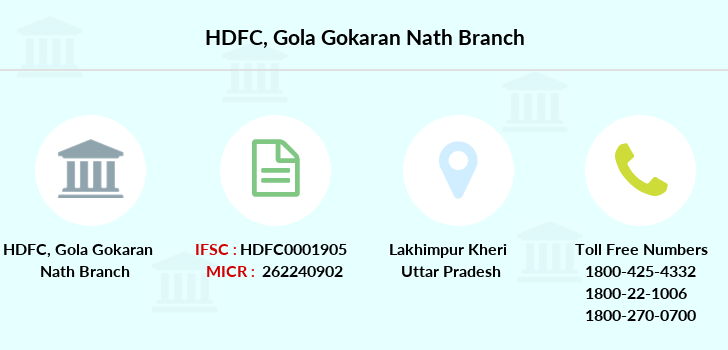 Hdfc-bank Gola-gokaran-nath branch
