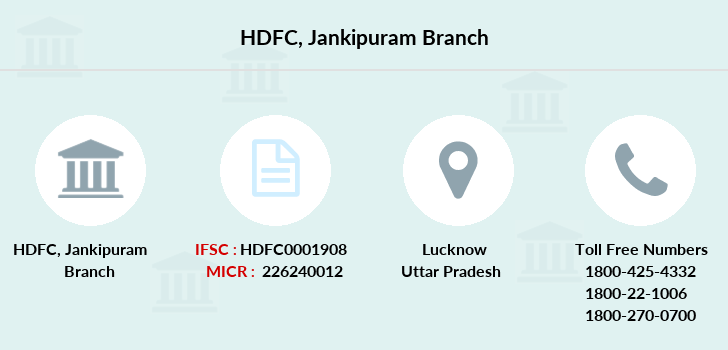 Hdfc-bank Jankipuram branch