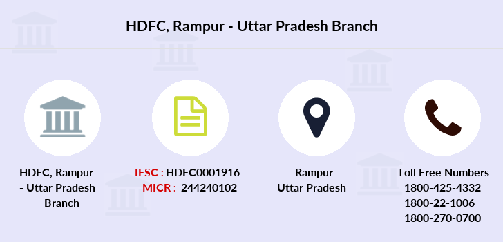 Hdfc-bank Rampur-uttar-pradesh branch