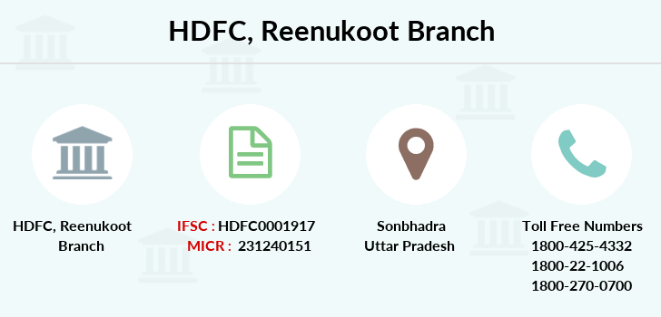 Hdfc-bank Reenukoot branch