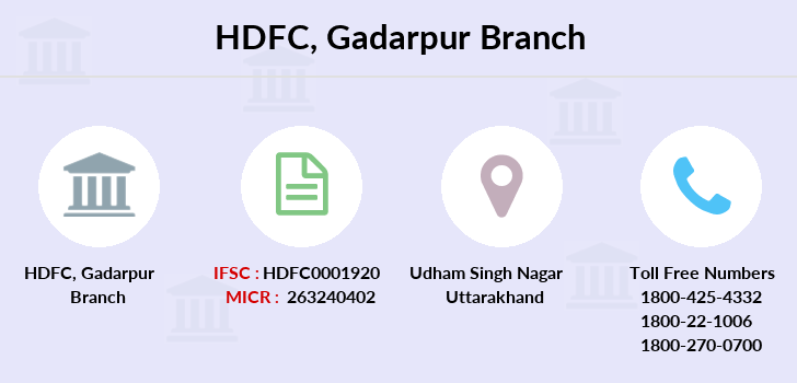 Hdfc-bank Gadarpur branch