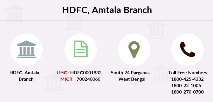 Hdfc-bank Amtala branch