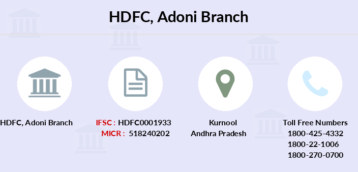Hdfc-bank Adoni branch