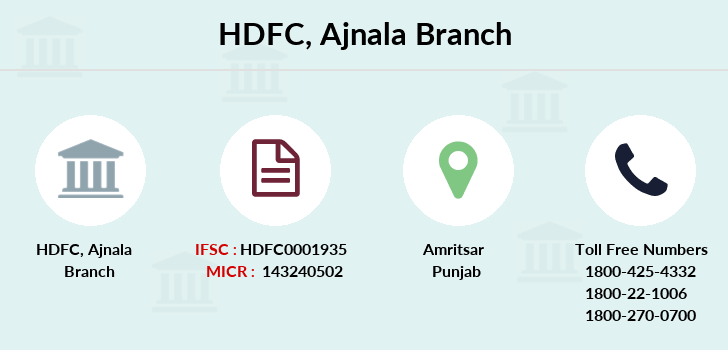 Hdfc-bank Ajnala branch