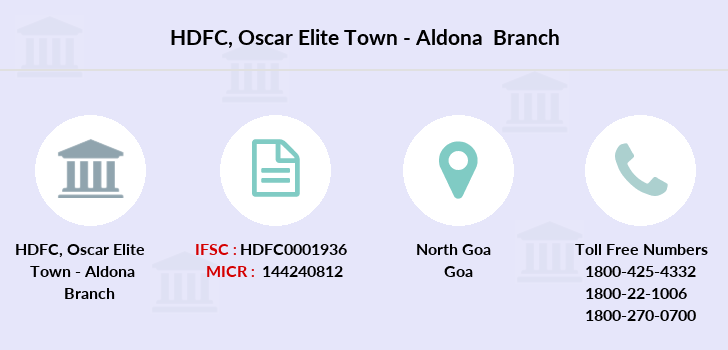 Hdfc-bank Oscar-elite-town-aldona branch