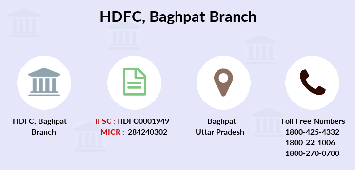 Hdfc-bank Baghpat branch