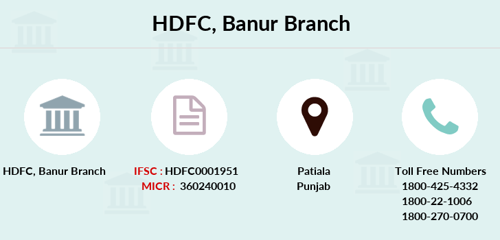 Hdfc-bank Banur branch