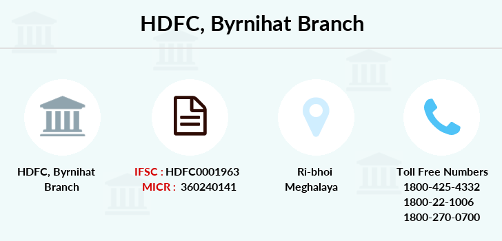 Hdfc-bank Byrnihat branch