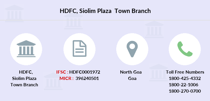 Hdfc-bank Siolim-plaza-town branch
