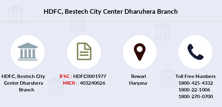 Hdfc-bank Bestech-city-center-dharuhera branch