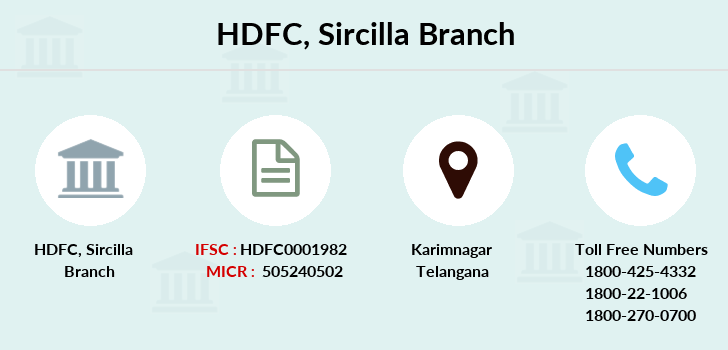 Hdfc-bank Sircilla branch