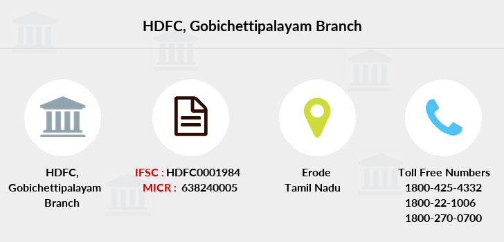 Hdfc-bank Gobichettipalayam branch