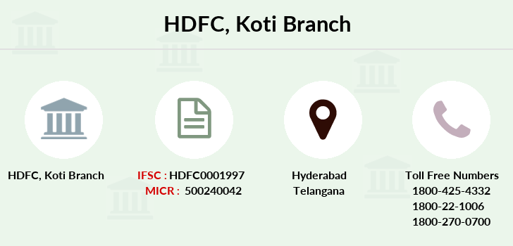 Hdfc-bank Koti branch