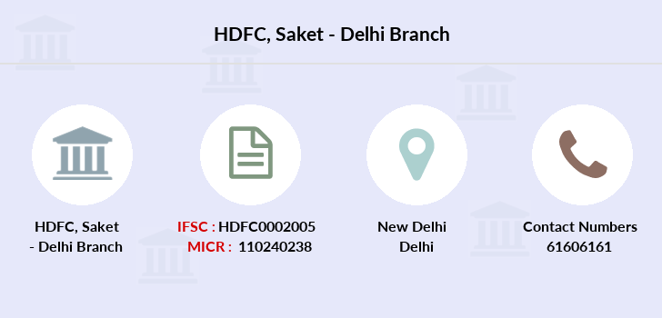 Hdfc-bank Saket-delhi branch