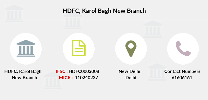 Hdfc-bank Karol-bagh-new branch