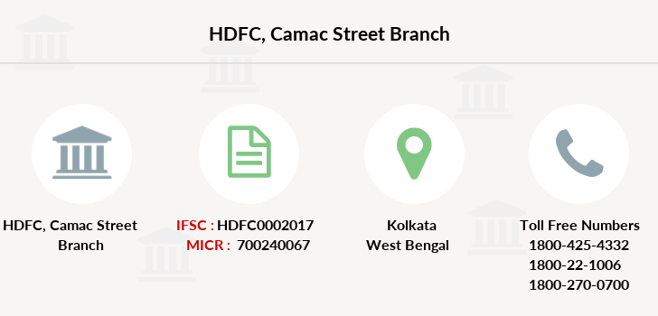 Hdfc-bank Camac-street branch