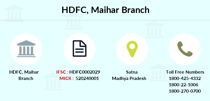 Hdfc-bank Maihar branch