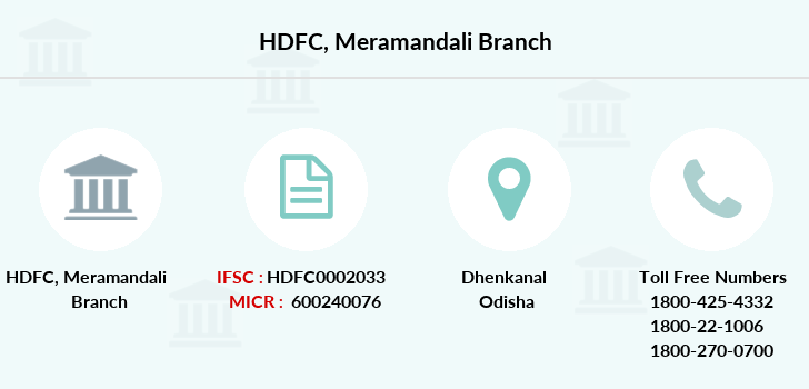 Hdfc-bank Meramandali branch