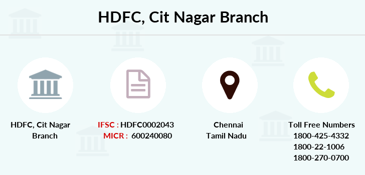 Hdfc-bank Cit-nagar branch