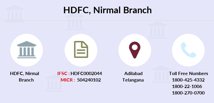 Hdfc-bank Nirmal branch