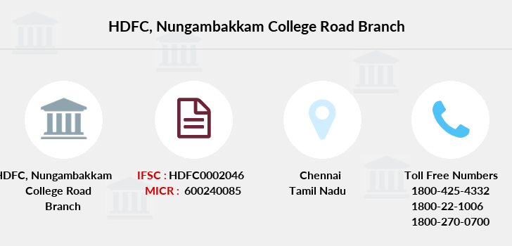 Hdfc-bank Nungambakkam-college-road branch