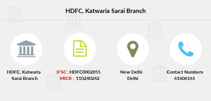 Hdfc-bank Katwaria-sarai branch