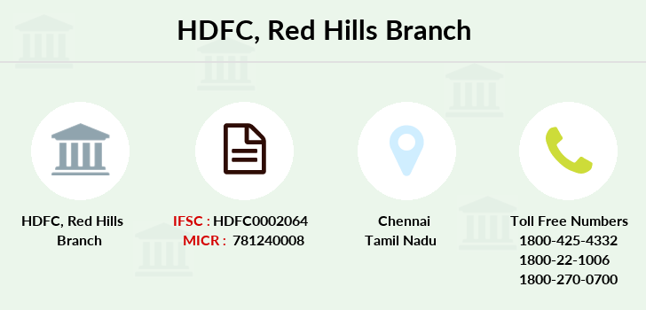 Hdfc-bank Red-hills branch