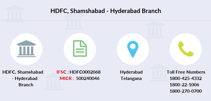 Hdfc-bank Shamshabad-hyderabad branch